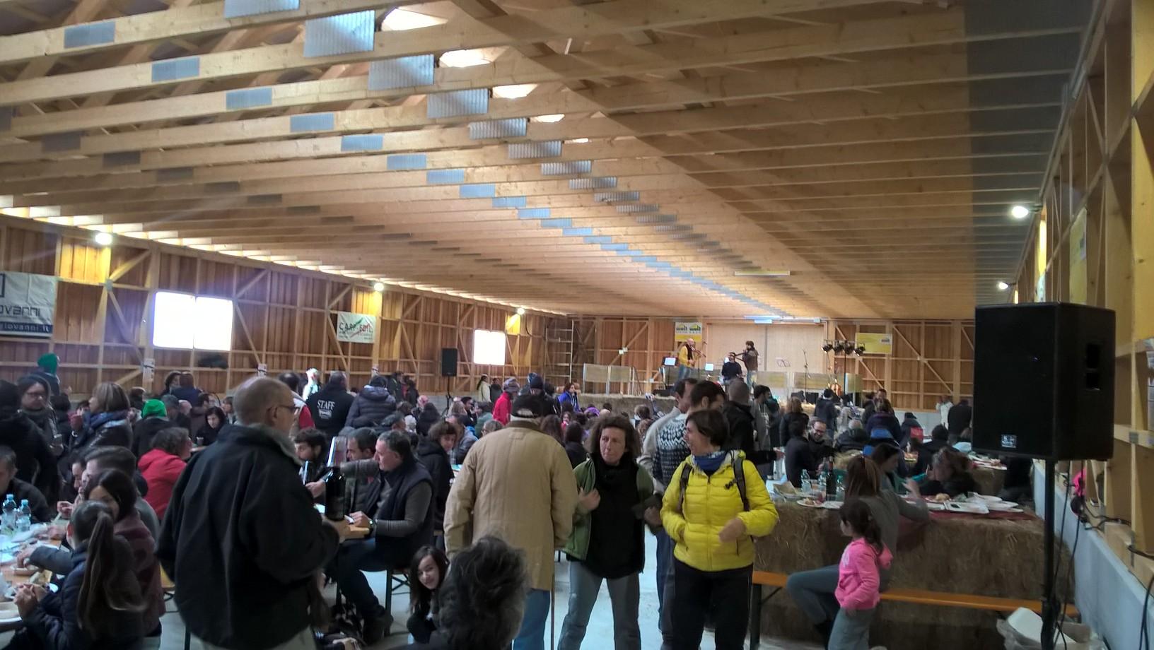 La nuova stalla della tenuta agricola Scolastici durante l'evento di EpiCentro