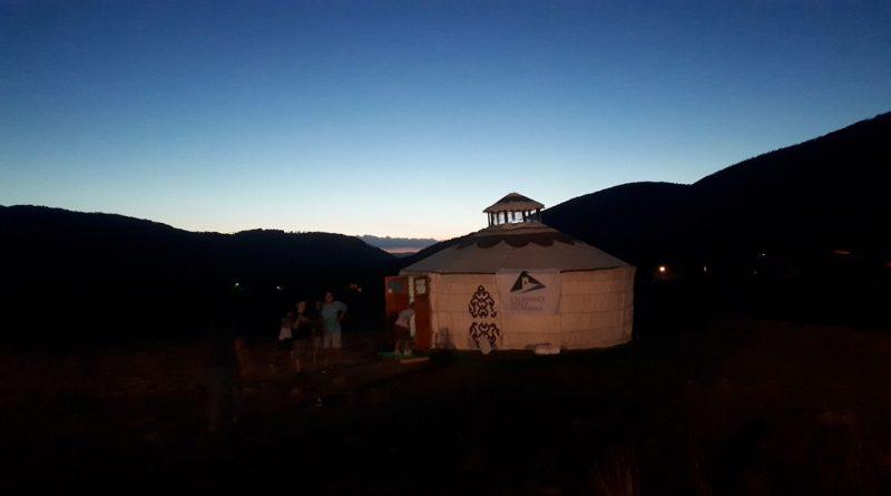 Due yurte sull'Appennino (tra Einaudi e la Procura della Repubblica)